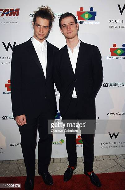 Sean Souza and Anthony Souza attend Brazil Foundation Gala at W South Beach on March 27 2012 in Miami Beach Florida