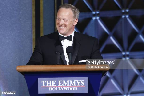 Sean Spicer at the 69TH PRIMETIME EMMY AWARDS LIVE from the Microsoft Theater in Los Angeles Sunday Sept 17 on the CBS Television Network