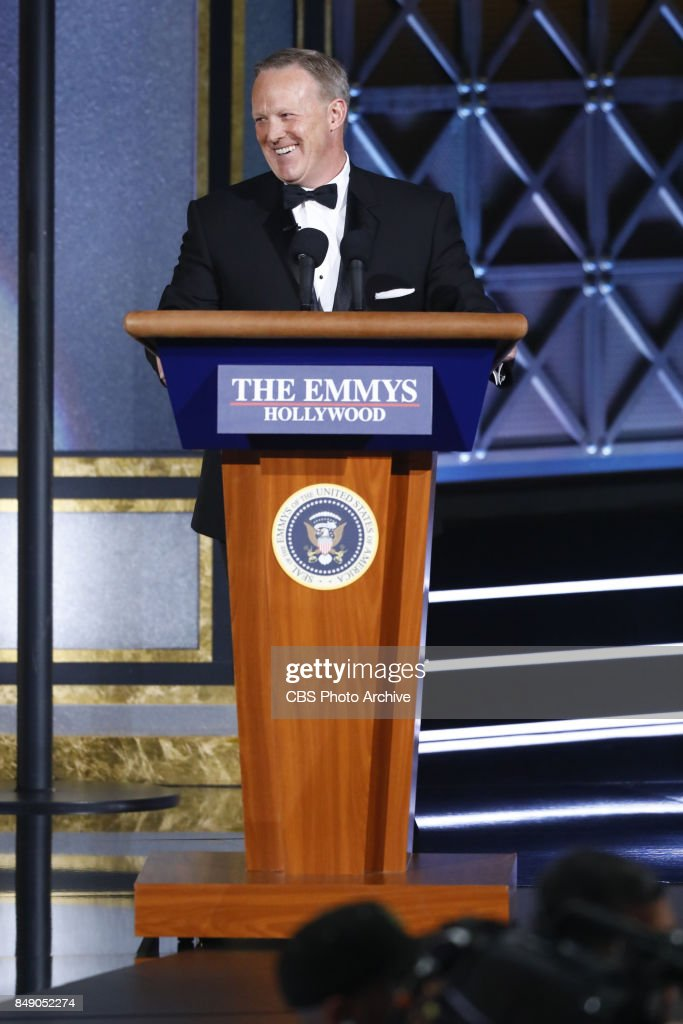 Sean Spicer at the 69TH PRIMETIME EMMY AWARDS, LIVE from the Microsoft Theater in Los Angeles Sunday, Sept. 17 (8:00-11:00 PM, live ET/5:00-8:00 PM live PT) on the CBS Television Network.