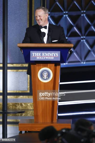 Sean Spicer at the 69TH PRIMETIME EMMY AWARDS, LIVE from the Microsoft Theater in Los Angeles Sunday, Sept. 17 on the CBS Television Network.