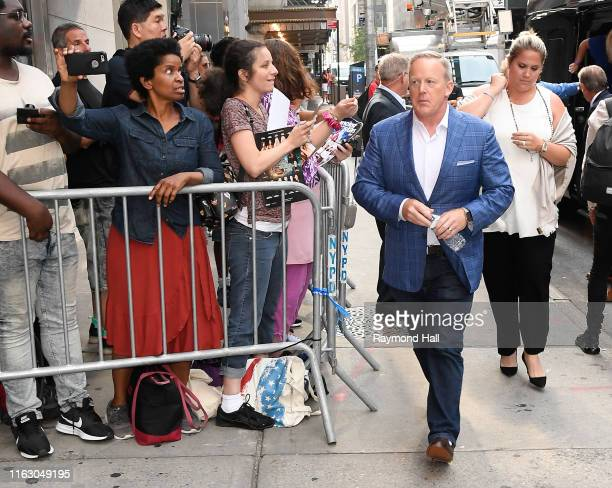 Sean Spicer is seen on August 21 2019 in New York City