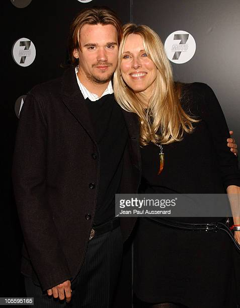 Sean Stewart and Alana Stewart during Motorola's Seventh Anniversary Party to Benefit Toys for Tots Arrivals at American Legion Hall in Los Angeles...