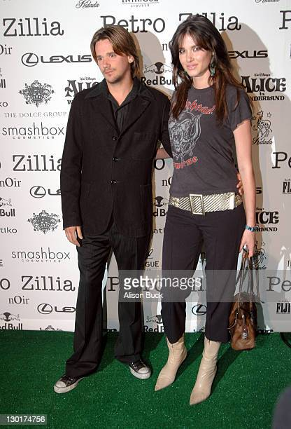 Sean Stewart and Erin Naas backstage at Petro Zillia Spring 2006