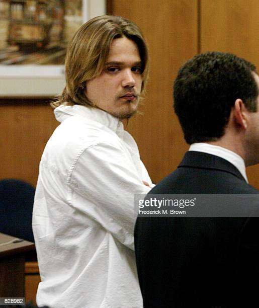 Sean Stewart and his attorney appear in Malibu Superior Court to answer charges he attacked a man outside a Malibu restaurant last year February 6...