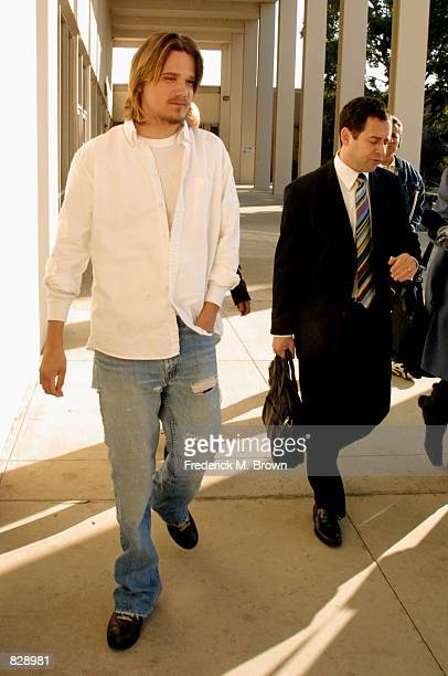 Sean Stewart and his attorney leave Malibu Superior Court after appearing on charges he attacked a man outside a Malibu restaurant last year February...