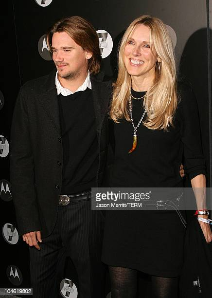 Sean Stewart and mother Alana Stewart during Motorola's Seventh Anniversary Party to Benefit Toys for Tots Arrivals at American Legion in Hollywood...