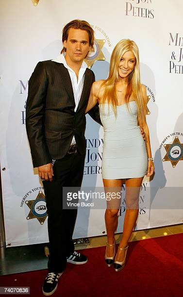 Sean Stewart and singer Caleigh Peters attend the Los Angeles County Sheriff's Youth Foundation's annual Salute To Youth benefit dinner honoring...