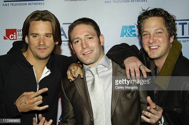 Sean Stewart, David Weintraub and Randy Spelling during A&E Unveils Fall 2006 Season Lineup at the A&E Network Upfronts at Time Warner Center - Jazz...