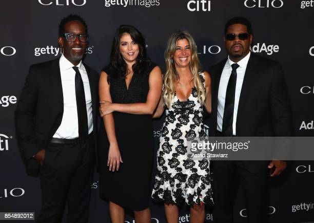 Sean Stockman Cecily Strong Nicole Purcell and Nathan Morris attend the 2017 Clio Awards at Lincoln Center on September 27 2017 in New York City