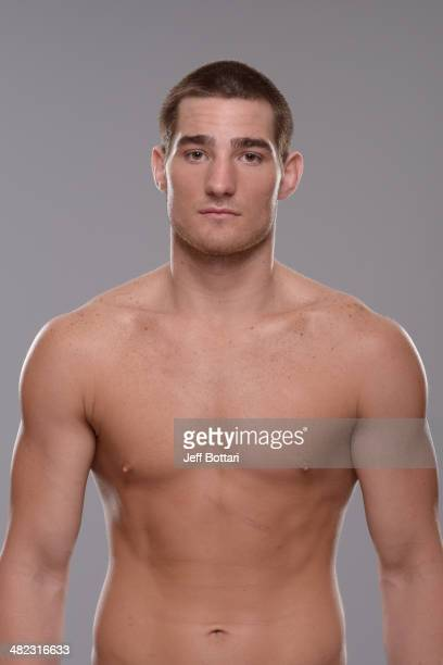 Sean Strickland poses for a portrait during a UFC photo session on March 12 2014 in Dallas Texas