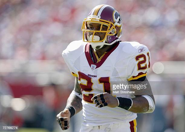 Sean Taylor of the Washington Redskins jogs on the field during the game against the Tampa Bay Buccaneers on November 19 2006 at Raymond James...