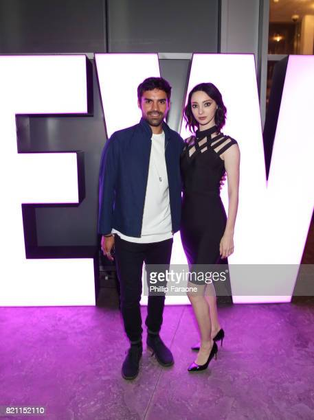 Sean Teale and Emma Dumont at Entertainment Weekly's annual ComicCon party in celebration of ComicCon 2017 at Float at Hard Rock Hotel San Diego on...