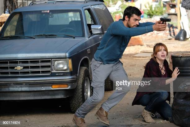 Sean Teale and guest star Elena Satine in the 'eXit strategy' episode of THE GIFTED airing Monday Oct 23 on FOX