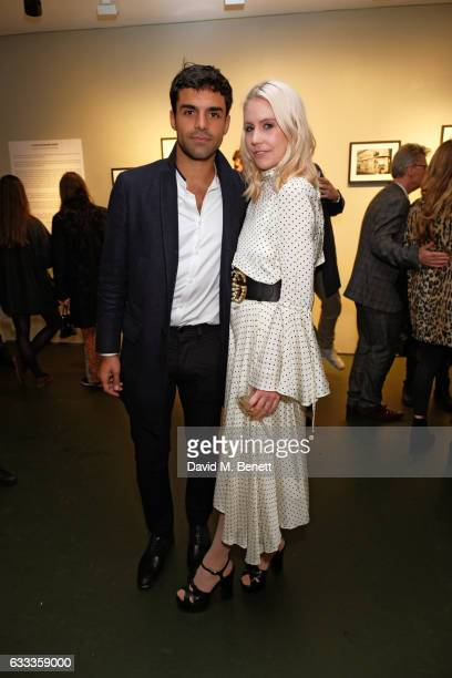 Sean Teale and ndia Rose James attend a private view of 'A Paul Raymond Show' an exhibition curated by Alex Wood and India Rose James at Soho Revue...