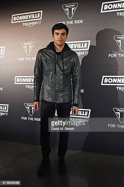 Sean Teale attends the Global VIP Reveal of the new Triumph Bonneville Bobber on October 19 2016 in London England