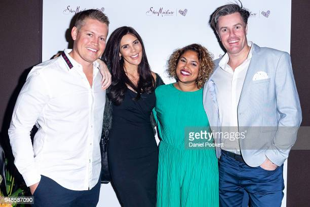 Sean Thomsen Tracey Jewel Charlene Perera and Troy Delmege attend the SheaMoisture Launch on April 19 2018 in Melbourne Australia