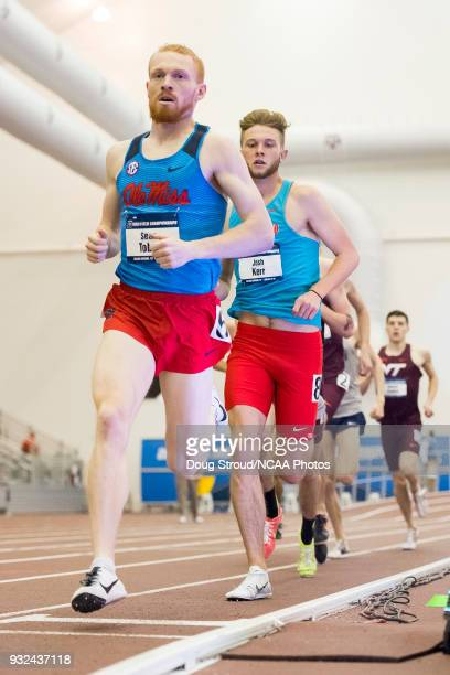 Sean Tobin of the University of Mississippi leads during Heat 2 of the Mens 1 Mile Run Preliminary during the Division I Men's and Women's Indoor...