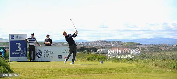 Sean Towndrow of Southport and Ainsdale during The Amateur Championship 2014 Day Five at Royal Portrush Golf Club on June 20, 2014 in Portrush,...