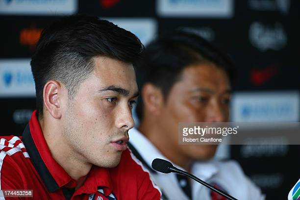 Sean Tse of South China speaks to the media during a Barclays Asia Trophy press conference at Grand Hyatt on July 26 2013 in Hong Kong Hong Kong