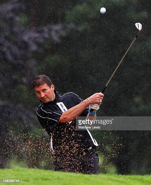 Sean Upton of Longcliffe Golf Club plays out of the bunker on the 3rd hole during the Virgin Atlantic PGA National ProAm Championship Midland...