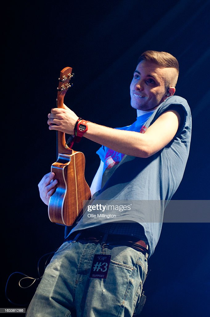 Sean Walsh of The Original Rudeboys performs on stage in concert on the opening night of their first UK tour supporting The Script on their March 2013 UK Tour during the #3 World Tour at Nottingham Capital FM Arena on March 8, 2013 in Nottingham, England.