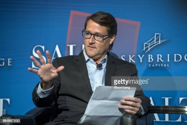 Sean Wolfington chairman and chief executive officer of The Wolfington Companies speaks at the Skybridge Alternatives conference in Las Vegas Nevada...