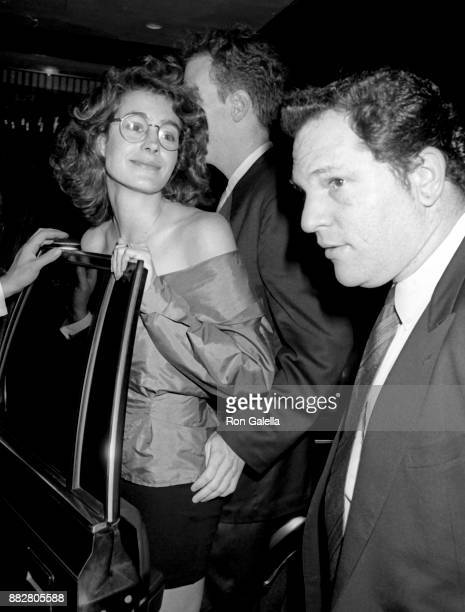 Sean Young and Harvey Weinstein attend 'Sex Lies and Videotape' Premiere on August 1 1989 at the Ziegfeld Theater in New York City