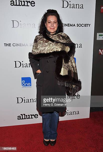 Sean Young attends The Cinema Society with Linda Wells Allure Magazine premiere of Entertainment One's 'Diana' at SVA Theater on October 30 2013 in...