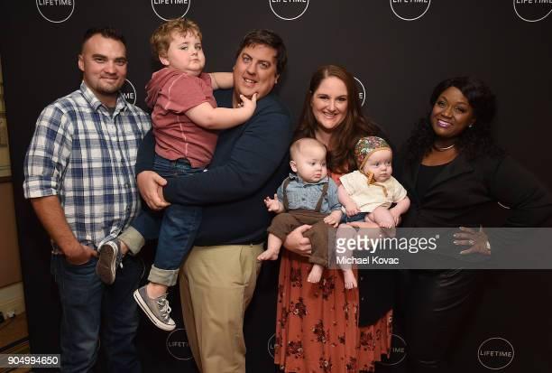 Sean Young Lloyd Krieg Dan Krieg Walter Krieg Sarah Krieg Mabel Krieg and Sinora Glenn attend AE Networks' 2018 Winter Television Critics Association...