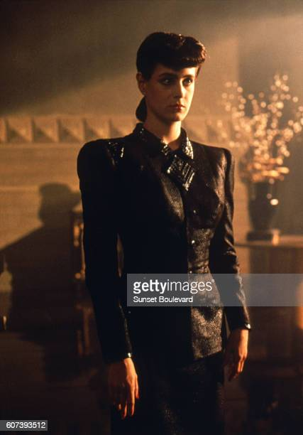 Sean Young on the set of 'Blade Runner' directed by Ridley Scott