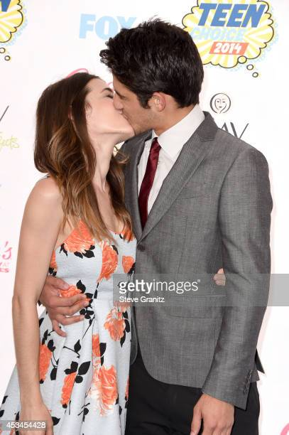 Seana Gorlick and host Tyler Posey attend FOX's 2014 Teen Choice Awards at The Shrine Auditorium on August 10 2014 in Los Angeles California
