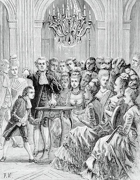 Seance of Count Alessandro of Cagliostro during a meeting of the Egyptian Rite Masonic Lodge which he founded. Paris, Bibliothèque Nationale De France