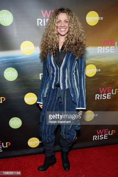 Seane Corn attends the WeRiseUP Launch Event With Kevin Bacon during the 2019 Sundance Film Festival at TAO Nightclub on January 27 2019 in Park City...
