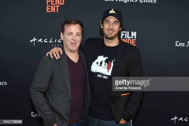 """Sean-Michael Smith and Brett Fallentine attend the Closing Night Screening of """"Nomis"""" during the 2018 LA Film Festival at ArcLight Cinerama Dome on..."""