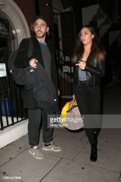 Seann Walsh and Katya Jones seen leaving Danceworks in Mayfair on October 17 2018 in London England