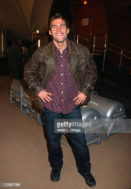Seann William Scott during 'Evolution' Set Photo Session at Booning Hangar in Downey California United States