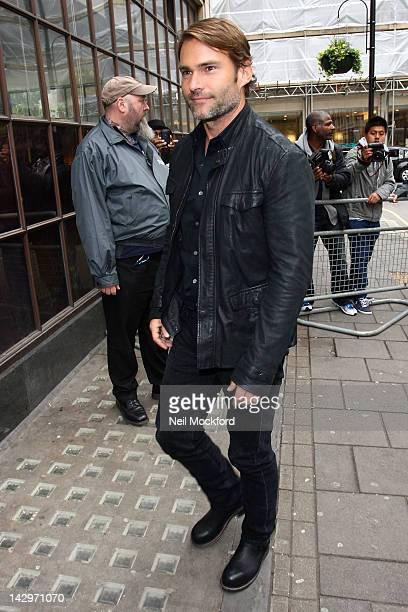 Seann William Scott seen promoting 'American Reunion' at BBC Radio One on April 16 2012 in London England