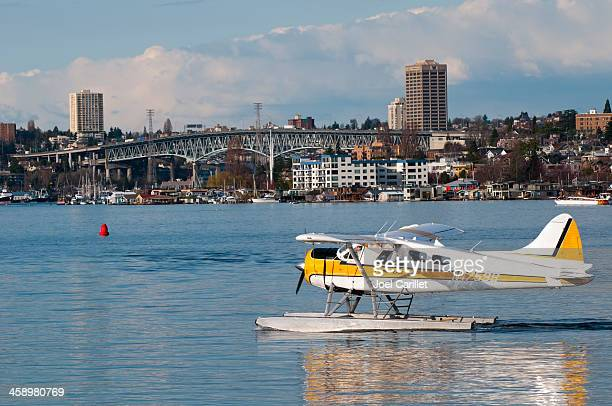 Seaplane on Lake Union in Seattle