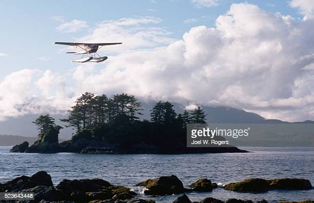Seaplane Over Island in Clayoquot Sound