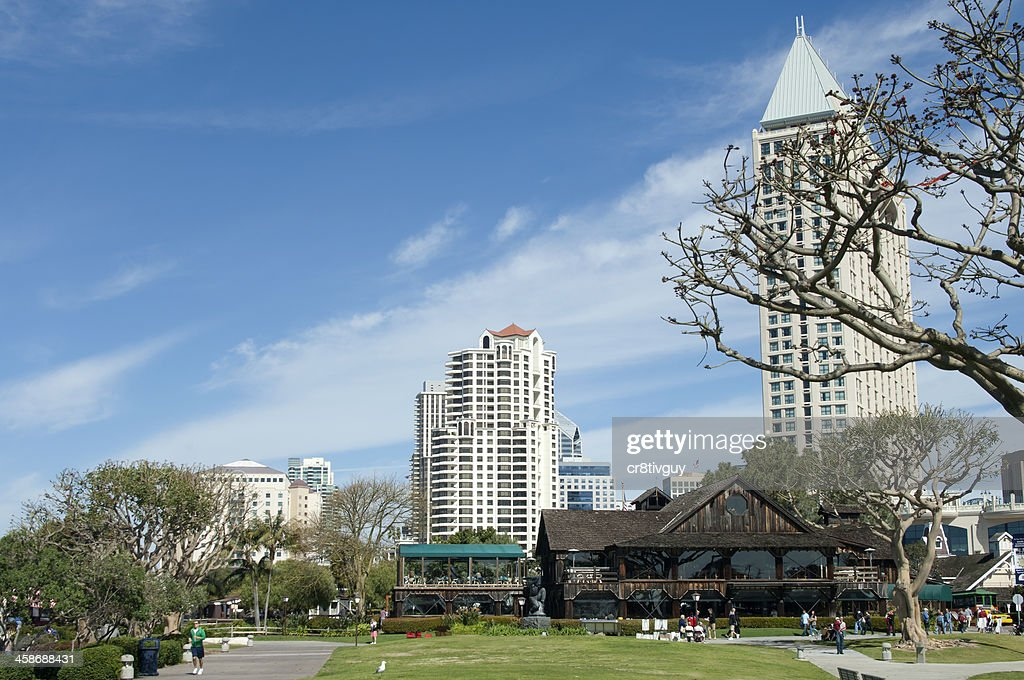 Seaport Village Restaurants And Park Stock Photo