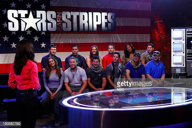 STRIPES Search and Destroy Episode 103 Pictured CoHost Samantha Harris Font row Eve Torres Grady Powell Nick Lachey Tom Stroup Dean Cain Chris Kyle...