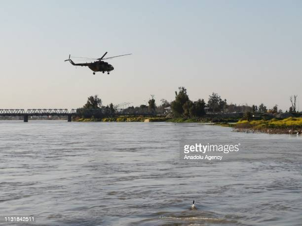 Search and rescue operations are being carried out with a helicopter around the site after a ferryboat sank in Iraqs Tigris River on Thursday leaving...