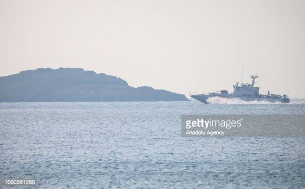 Search and rescue operations are launched by coast guard members after a boat carrying irregular migrants reportedly sank in the Aegean Sea on...
