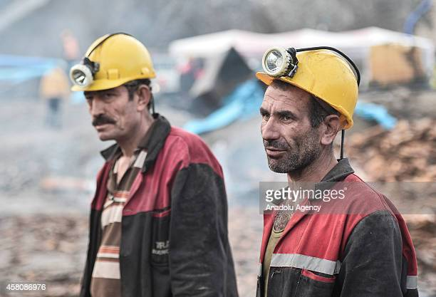 Search and rescue work to rescue miners from a flooded coal mine, continue in the Ermenek district of Karaman, around 400 kilometers south of Turkish...