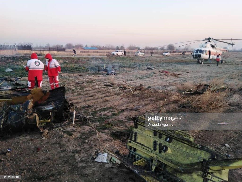 Ukraine passenger jet crashes in Iran after takeoff : News Photo