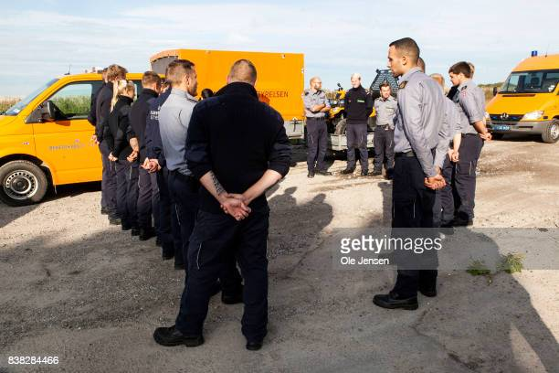 A search team from the Danish Emergency Services is being briefed before today's search for body parts following the death of journalist Kim Wall at...
