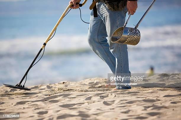 Searches a beach