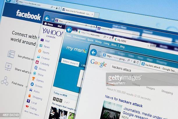 searching hackers attack - yahoo images search stock pictures, royalty-free photos & images