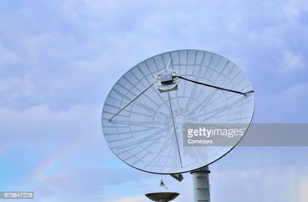searching telescopes, satellite dish - 人工衛星 ストックフォトと画像