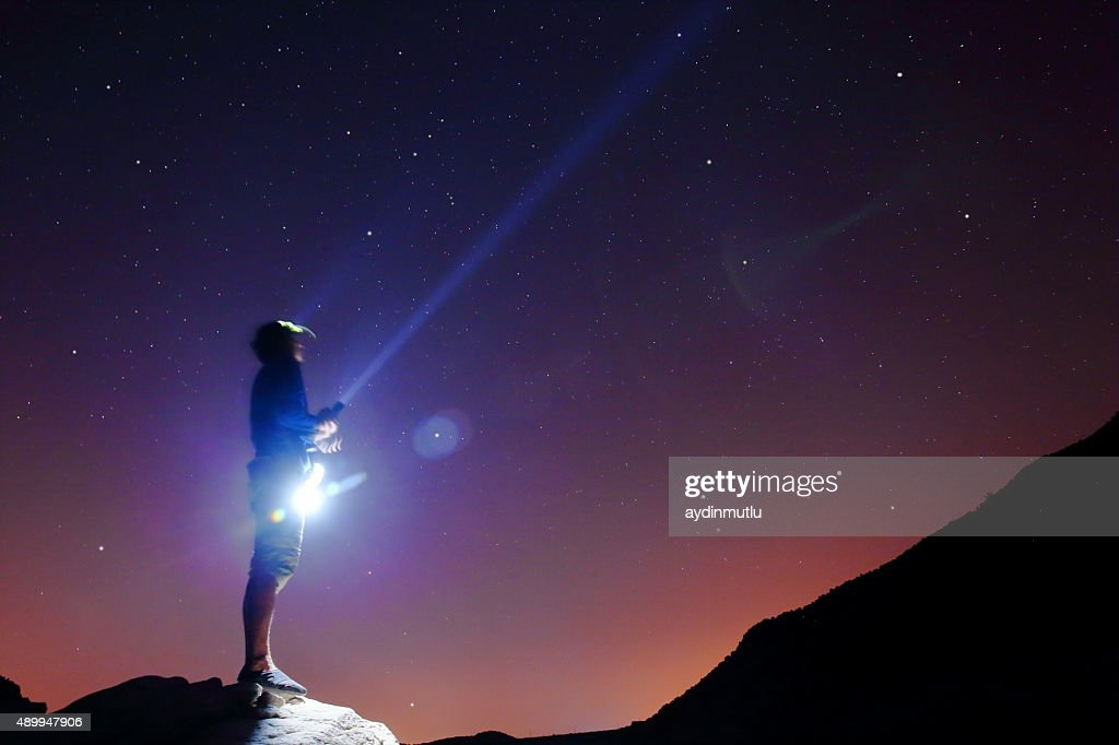 Searching the Stars : Stock Photo
